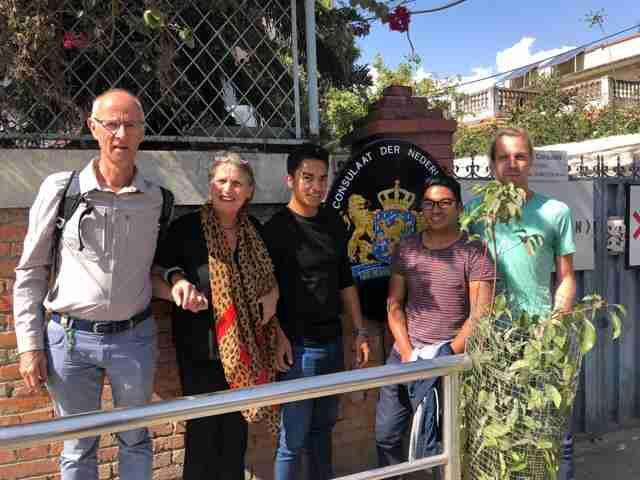 Bezoek aan Nederlands Consul in Kathmandu