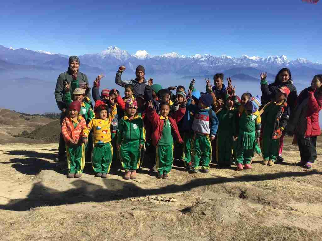 2018 Dion with children and Makar high Sailung Nepal