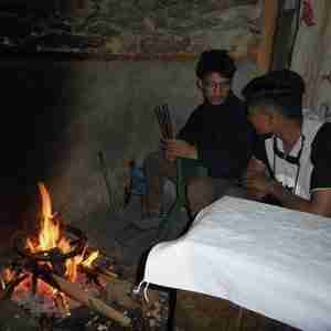 Project page cooking stoves people warm themselves inside an open fire