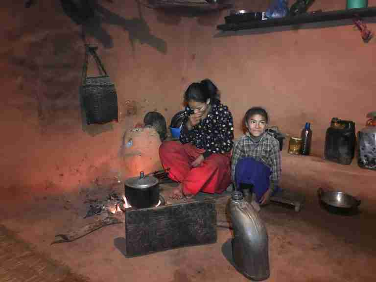 Sponsor kids cooking Sushmita with mother