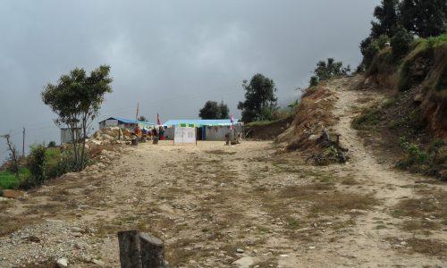Zicht op KLES school Sailung Nepal