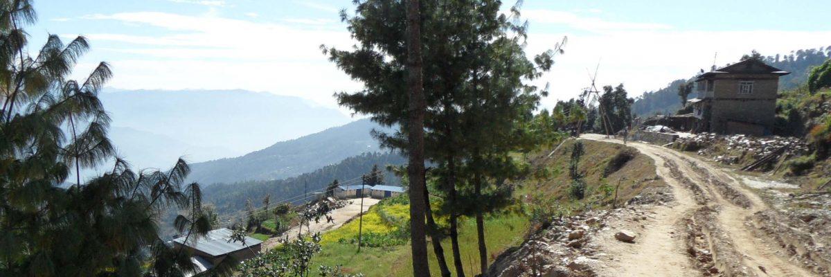 zicht op de school in Sailung Nepal